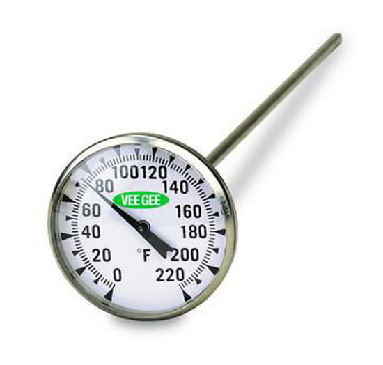 """Picture of VeeGee Scientific 1¾"""" Dial Bimetal Thermometers - 82550"""
