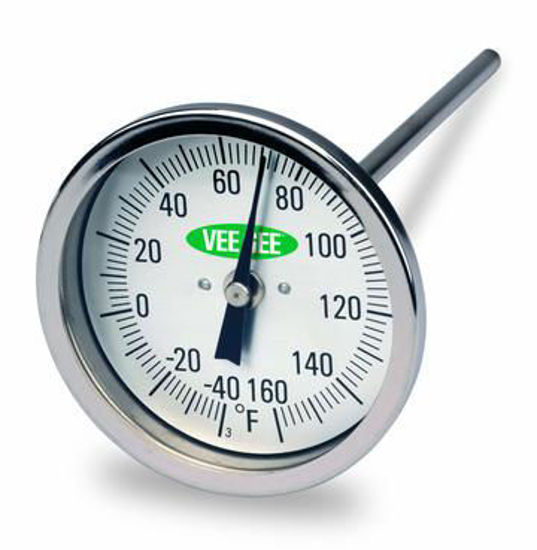 """Picture of VeeGee Scientific 3"""" Dial Bimetal Thermometers - 82160-12"""