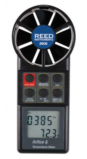 Picture of Reed 8906 Vane Thermo-Anemometer with Air Volume