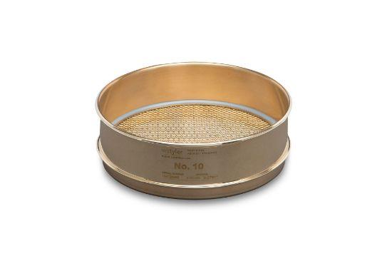 "Picture of WS Tyler 8"" Diameter Brass Frame/Brass Cloth Test Sieves - 4705"