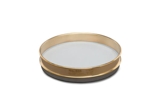 """Picture of WS Tyler 8"""" Diameter Brass Frame/Stainless Steel Cloth Test Sieves - 5001"""