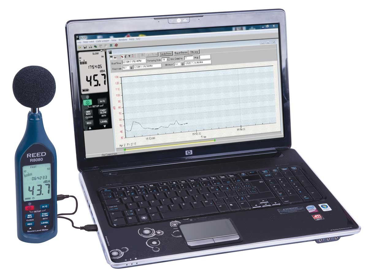 Picture of Reed R8080 Data Logging Sound Level Meter with Bargraph