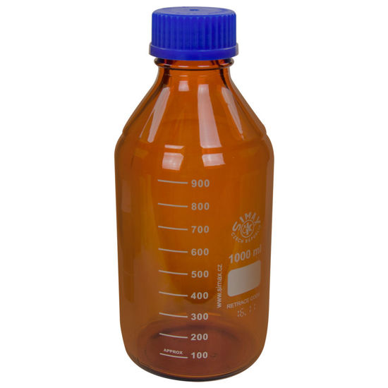 Picture of Simax® Amber Glass Media/Storage Bottles - BMA1000
