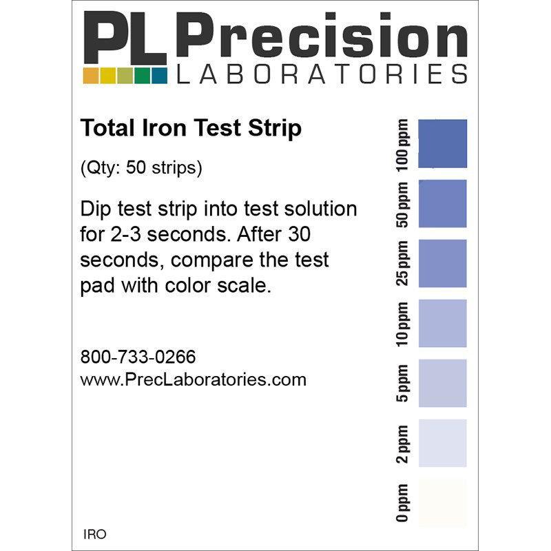 Picture of Precision Laboratories Iron Test Strips