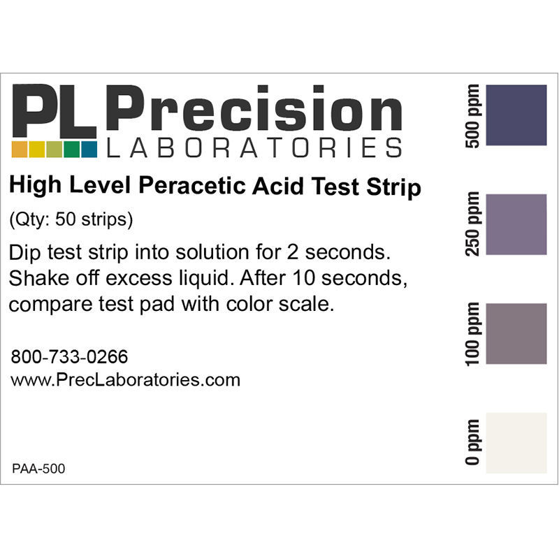 Picture of Precision Laboratories Peracetic Acid Test Strips - PAA-500