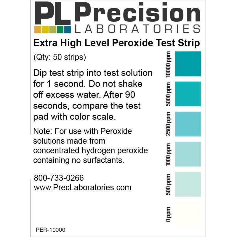 Picture of Precision Laboratories Peroxide Test Strips - PER-10000