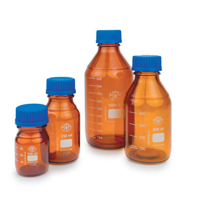 Picture of Simax® Amber Glass Media/Storage Bottles