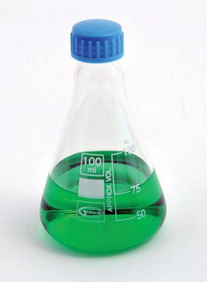 Picture of United Scientific Screw Cap Glass Erlenmeyer Flasks - FG5021-250