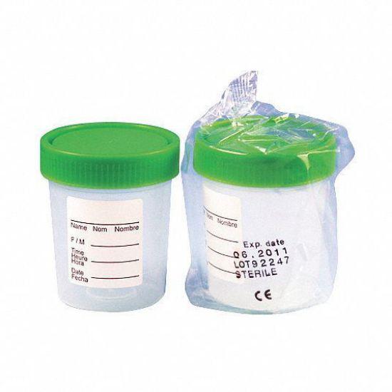 Picture of Globe Scientific 4oz Screw Cap Specimen Containers - 5913