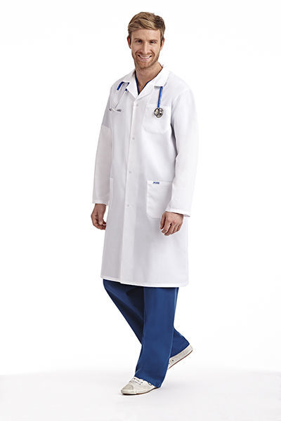 Picture of Full Length Unisex Snap Lab Coat