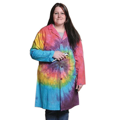 Picture of Full Length Unisex Tie-Dyed Lab Coats