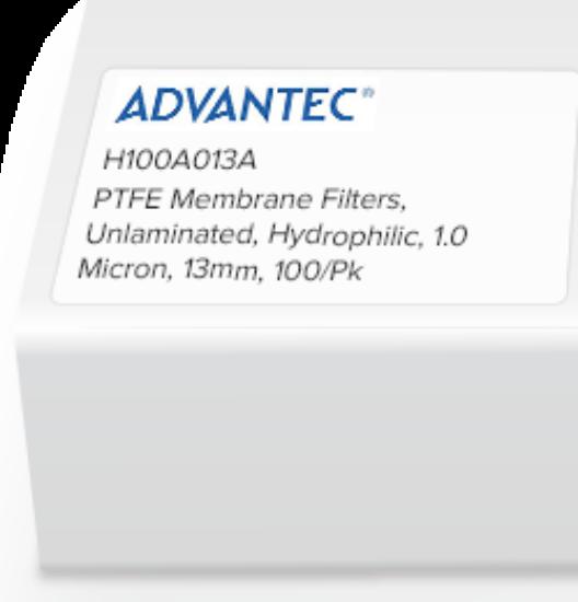 Picture of Advantec Unlaminated PTFE Hydrophilic Membrane Filters - H050A090C