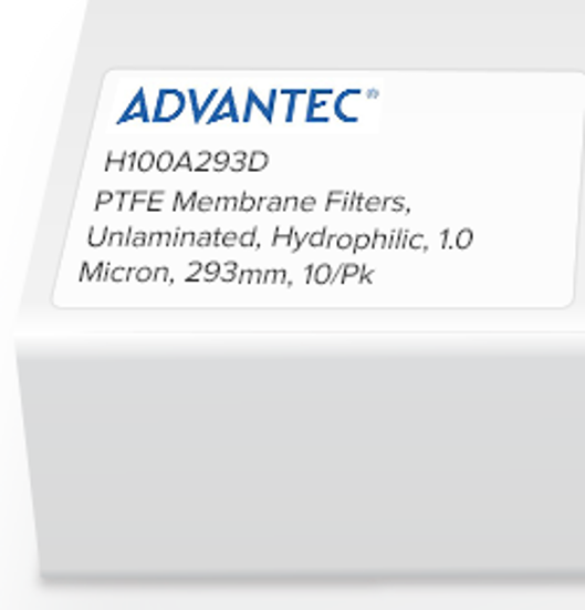 Picture of Advantec Unlaminated PTFE Hydrophilic Membrane Filters - H100A293D