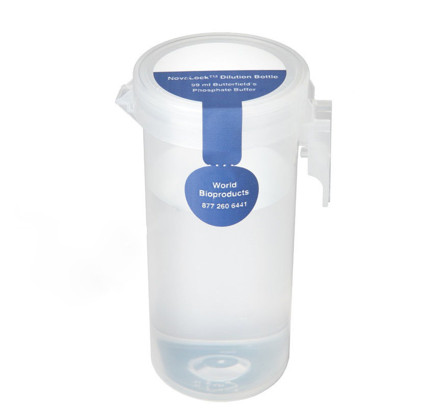 Picture of World Bioproducts NovaLock™ Dilution Bottles - NLD-90PW