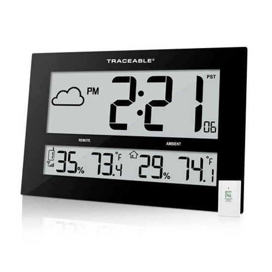 Picture of Traceable® Giant-Digital Radio Atomic Clock with Remote Sensor