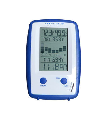 Picture of Traceable® Precision Thermometer/Clock/Humidity Monitor with Graph