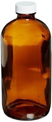Picture of ProSource Scientific Boston Round Amber Glass Bottles