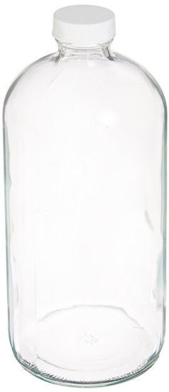 Picture of ProSource Scientific Boston Round Clear Glass Bottles - BBRC250