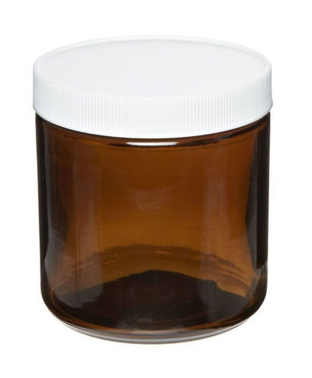 Picture of ProSource Scientific Wide Mouth Amber Glass Jars - JWMA60