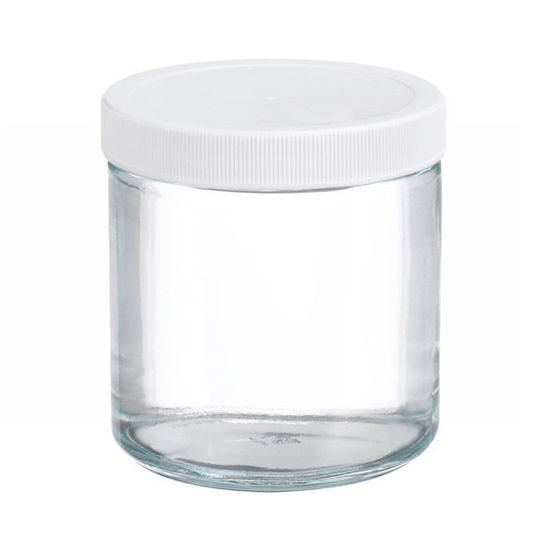 Picture of ProSource Scientific Wide Mouth Clear Glass Jars - JWMC120
