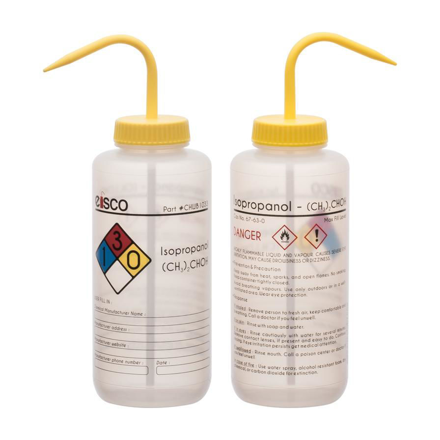 Picture of Eisco Safety-Labelled Wash Bottles - CHWB1030PK6