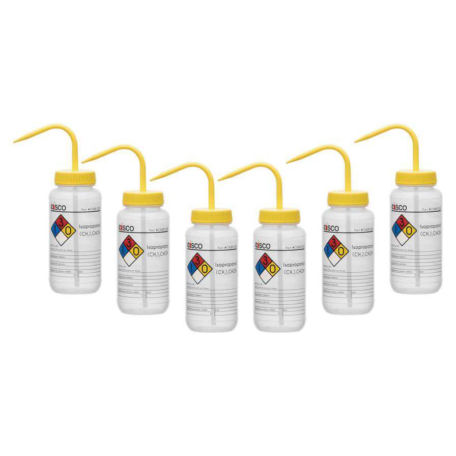 Picture of Eisco Safety-Labelled Wash Bottles - CHWB1033PK6