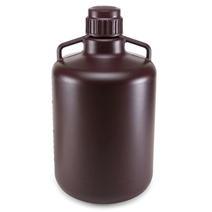 Picture of Globe Scientific Diamond® RealSeal™ Round Amber HDPE Carboys
