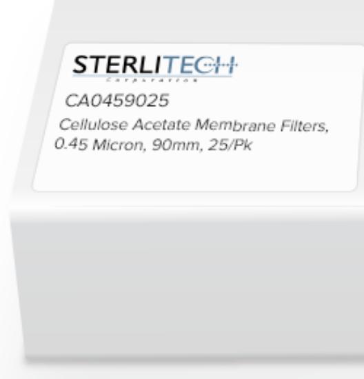 Picture of Sterlitech Cellulose Acetate (CA) Membrane Filters - CA0459025