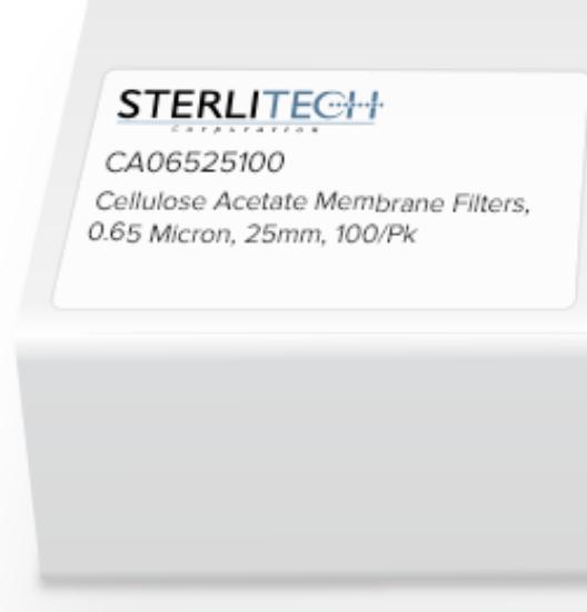Picture of Sterlitech Cellulose Acetate (CA) Membrane Filters - CA06525100