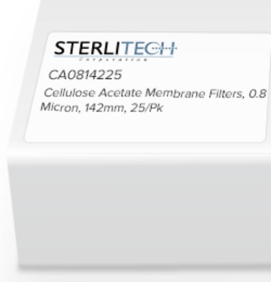 Picture of Sterlitech Cellulose Acetate (CA) Membrane Filters - CA0814225