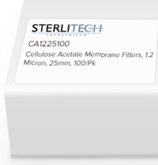 Picture of Sterlitech Cellulose Acetate (CA) Membrane Filters - CA1225100